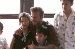 David Beckham en Chine : Rencontre émouvante avec des enfants malades