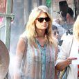 La divine Kate Upton en transparence sur le tournage de The Other Woman à Chinatown, New York, le 24 juin 2013.