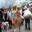 Cameron Diaz et Kate Upton au travail sur le tournage de The Other Woman à Chinatown, New York, le 24 juin 2013.