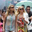 Cameron Diaz et Kate Upton sur le tournage de The Other Woman à Chinatown, New York, le 24 juin 2013.