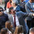 Serge Hazanavicius lors du mariage civil de Thomas Langmann et Céline Bosquet à la mairie de Sartène, Corse du sud, le 21 juin 2013.