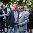 Thomas Langmann pose lors de son mariage civil avec Céline Bosquet à la mairie de Sartène, Corse du sud, le 21 juin 2013.