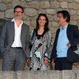 Michel Hazanavicius, Bérénice Bejo et Yvan Attal au mariage civil de Thomas Langmann et Céline Bosquet à la mairie de Sartène, Corse du sud, le 21 juin 2013.