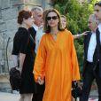 Carole Bouquet à la mairie de Sartène, Corse du sud, le 21 juin 2013.