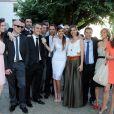 Mariage civil de Thomas Langmann et Celine Bosquet à la mairie de Sartène, Corse du sud, le 21 juin 2013.