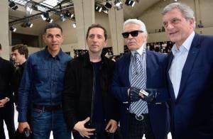 Fashion Week : Gad Elmaleh et Karl Lagerfeld, duo inédit pour Dior Homme