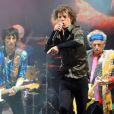 Les Rolling Stones en concert lors du festival de Glastonbury, le 29 Juin 2013.
