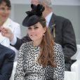 La duchesse de Cambridge, Kate Middleton, enceinte, procède au baptême du Royal Princess, navire de croisière de la compagnie Princess Cruises à Southampton, le 13 juin 2013.