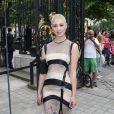 La jolie Dièse, Talent de The Voice 2 au défilé Julien Fournié, à l'hôtel Dassault à Paris, le 2 juillet 2013.
