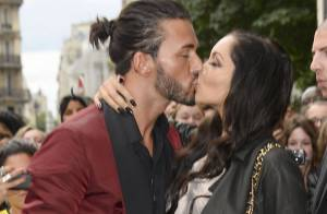 Nabilla et Thomas : Un fougueux baiser avant le défilé Jean Paul Gaultier