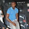 Usain Bolt, déchaîné lors de la soirée Puma The Quest au Bus Palladium. Paris, le 3 juillet 2013.