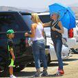 Gwen Stefani profite d'une journée ensoleillée pour se rendre en famille aux Underwood Family Farms. Moorpark, le 6 juillet 2013.