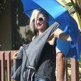 Gwen Stefani, stylée pour se rendre avec sa famille aux Underwood Family Farms. Moorpark, le 6 juillet 2013.