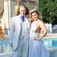 EXCLU : Morgan Ackermann de Qui veut épouser mon fils ?, cheveux aux vent, et Cindy Lopes de Secret Story 3 lors de la White Party, organisée à Courcy-aux-Loges, le dimanche 7 juillet 2013.