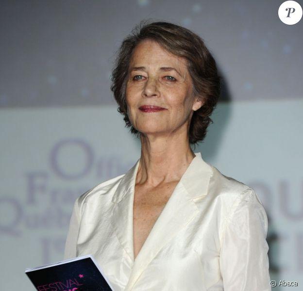 Charlotte Rampling lors de la cérémonie de clôture et la remise des prix du festival Paris Cinéma le 8 juillet 2013