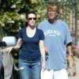 Exclusif - Kristin Davis, et Aaron Sorkin. A Los Angeles le 3 juin 2012.
