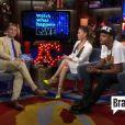 """Alyssa Milano sur le plateau de """"What Happens Live !"""" sur la chaîne Bravo, le 9 juillet 2013."""
