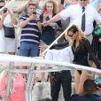 Rihanna est apparue en maillot de bain en train de faire du shopping à Monaco. La chanteuse américaine a ensuite rejoint son yacht sur le port Hercule, le 12 juillet 2013