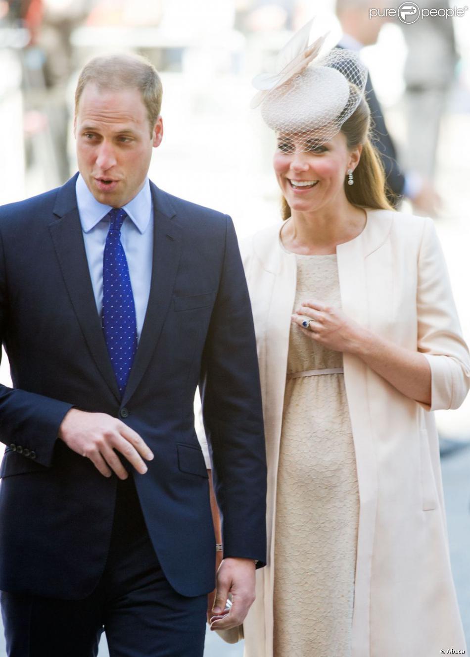 Le prince William et Kate Middleton, duc et duchesse de Cambridge, lors du service à Westminster pour les 60 ans du couronnement de la reine Elizabeth II en juin 2013.