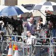 L'hôpital St Mary de Londres et ses abords sont en effervescence pour la naissance du bébé de Kate Middleton et du prince William, en juillet 2013