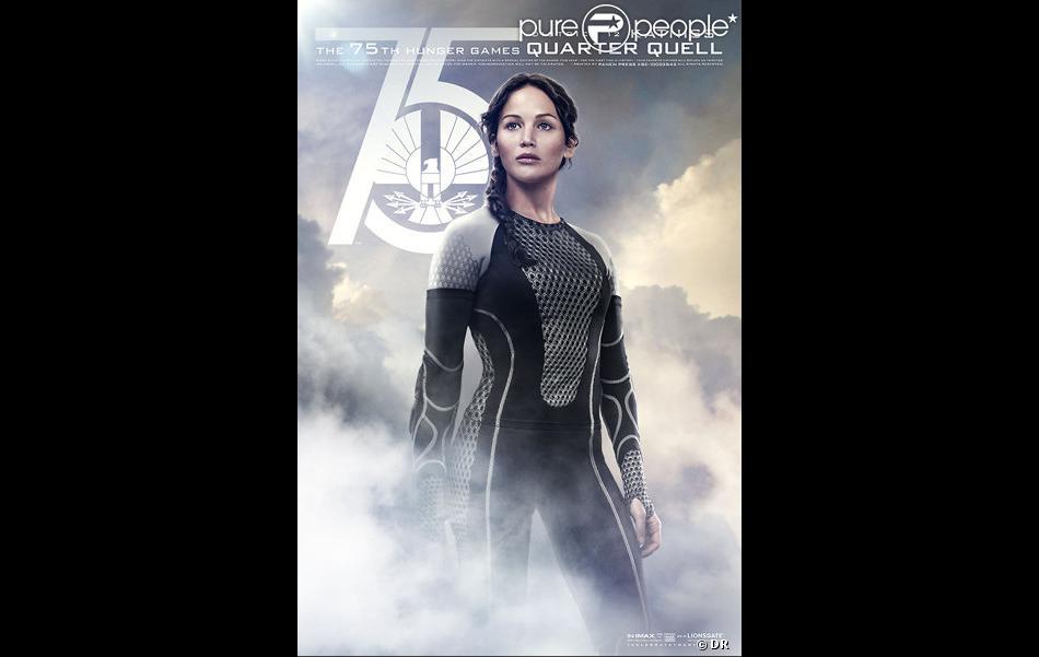 Nouvelle affiche du film Hunger Games - L'Embrasement avec Jennifer Lawrence alias Katniss