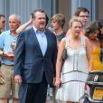 Exclu : Eric Stonestreet et son épouse, invités au mariage de Jesse Tyler Ferguson et Justin Mikita le 20 juillet 2013 à New York.