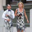 Exclu : Julie Bowen et Scott Philips, invités au mariage de Jesse Tyler Ferguson et Justin Mikita le 20 juillet 2013 à New York.