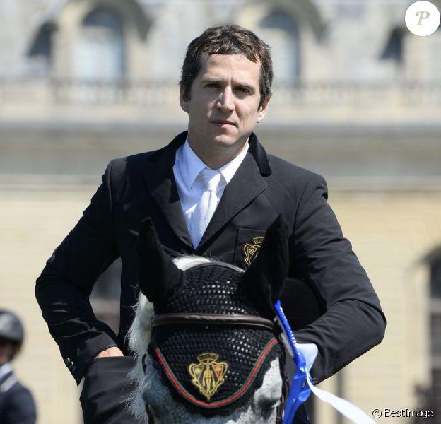 L'acteur Guillaume Canet lors du jumping de Chantilly le 20 juillet 2013