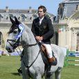 Guillaume Canet lors du jumping de Chantilly le 20 juillet 2013