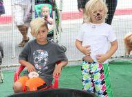 Gwen Stefani : Ses fils Kingston et Zuma, amis des animaux devant leur nounou