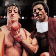 Apollo Creed et Rocky Balboa dans la franchise Rocky.