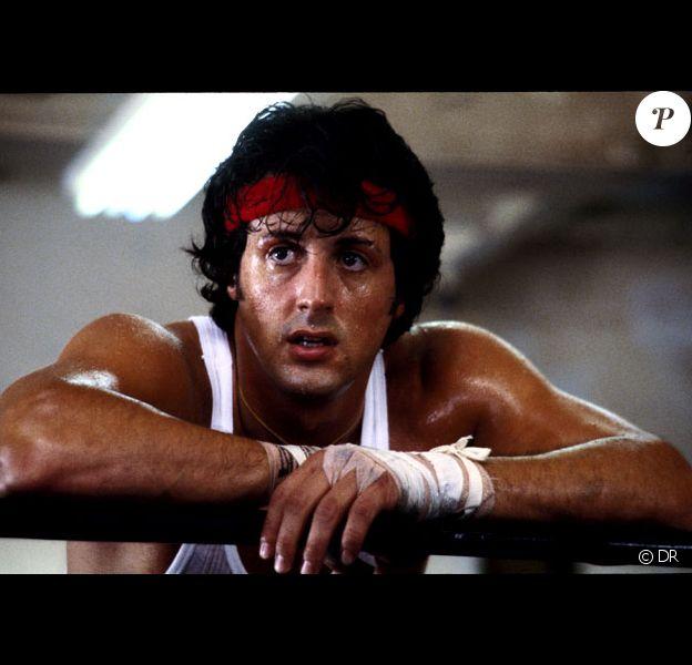 Sylvester Stallone en 1976 dans Rocky.