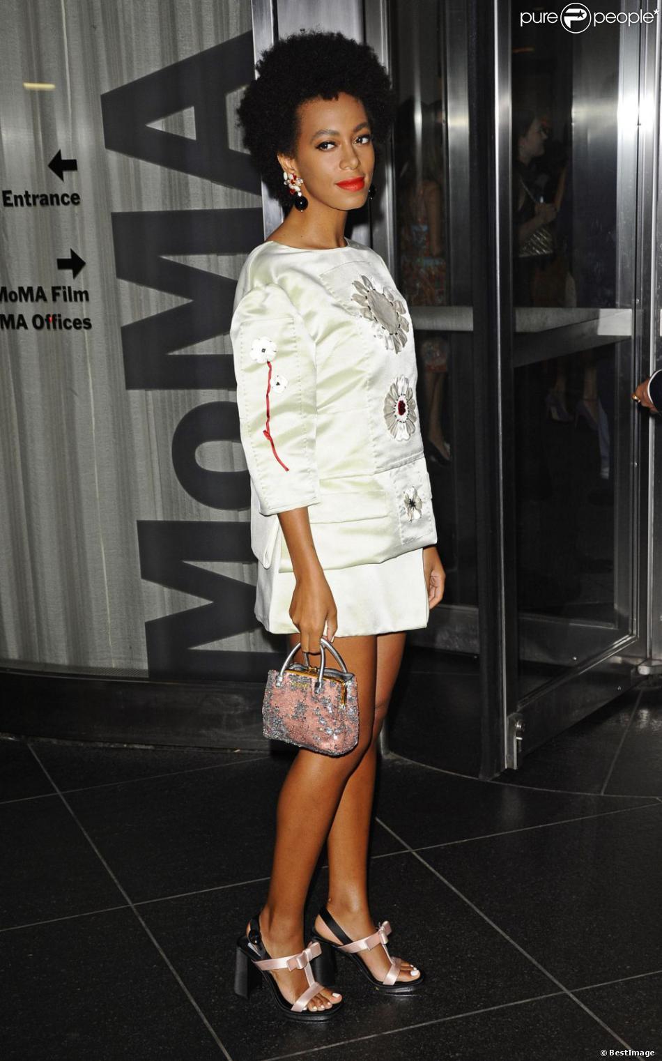 """Solange Knowles à la première de """"Blue Jasmin"""" à New York, le 22 juillet 2013."""