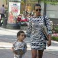 Solange Knowles et son fils Daniel Julez Smith à Hollywood, le 7 juin 2009.