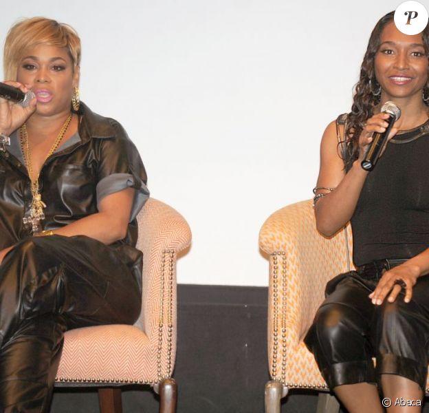 Tionne 'T-Boz' Watkins et Rozonda 'Chilli' Thomas de TLC à New York le 25 juillet 2013.