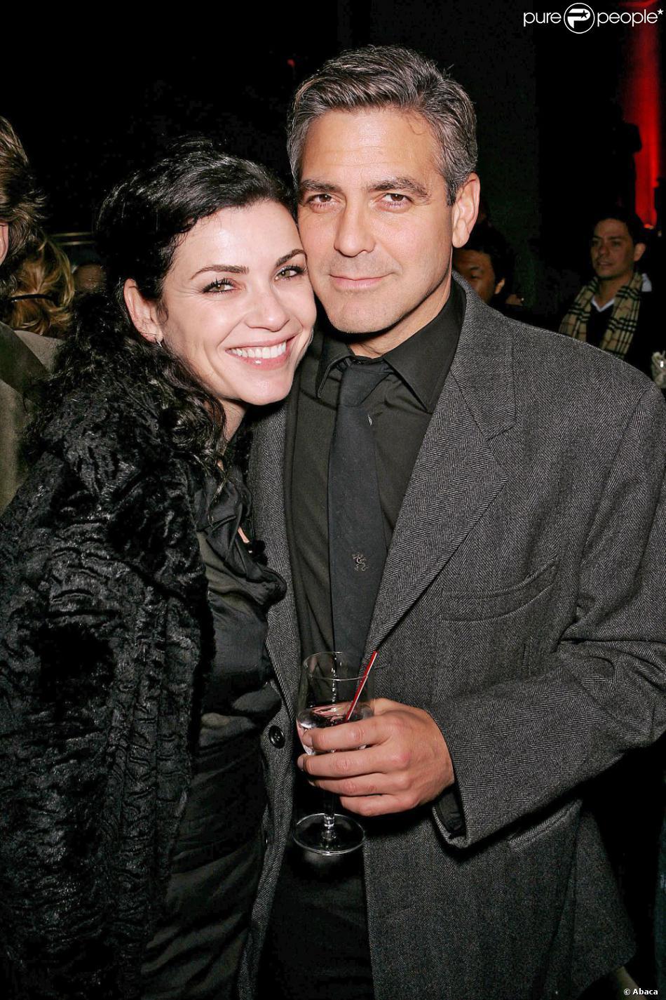 Julianna Margulies et George Clooney à New York le 20 novembre 2005.