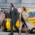 Christian Bale et la sexy Amy Adams sur le tournage d'American Hustle à New York le 17 mai 2013.