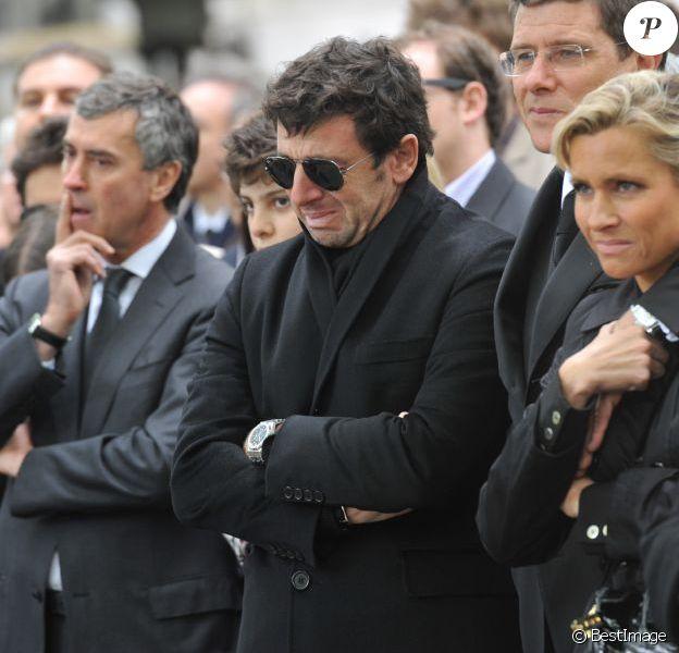 Jerôme Cahuzac et Patrick Bruel aux obsèques au cimetière de Montmatre à Paris le 3 juin 2013.