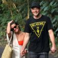Exclusif - Cory Monteith et Lea Michele sur la plage à Hawaï, le 1er janvier 2013.