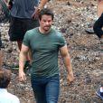 Mark Wahlberg sur le tournage de Transformers 4 à Detroit, le 31 juillet 2014.