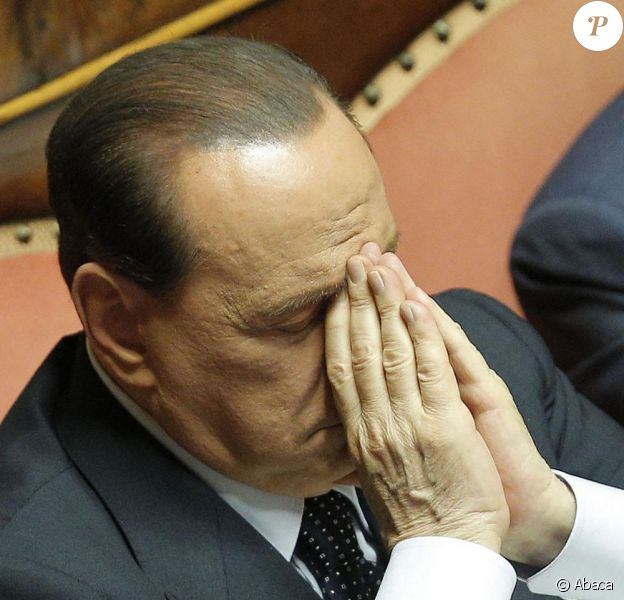Silvio Berlusconi au Sénat à Rome, le 19 juillet 2013.