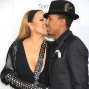 Mariah Carey, blessée et ultradécolletée, soutenue par son mari Nick Cannon