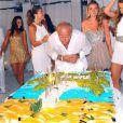 Fawaz Gruosi, fondateur et président de la marque de Grisogono, fête son 61e anniversaire au cours d'une White Night Party au Billionaire. Porto Cervo, le 8 août 2013.