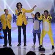 Lucy Halee et Darren Criss présentent la cérémonie des Teen Choice Awards à Los Angeles, le 11 août 2013.