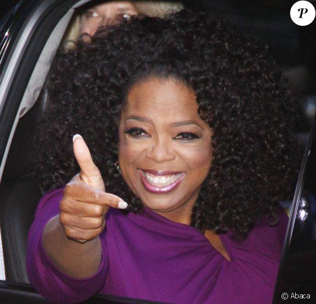 Oprah Winfrey lors de son arrivée pour l'enregistrement de l'émission Good Morning America à New York le 6 août 2013