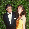Alain Delon et son ex Rosalie à Cannes en 1992.