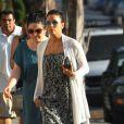 Exclusif - La jolie Eva Longoria s'est rendue à l'église où elle a rencontré Amaury Nolasco, à North Hollywood, le 17 août 2013.