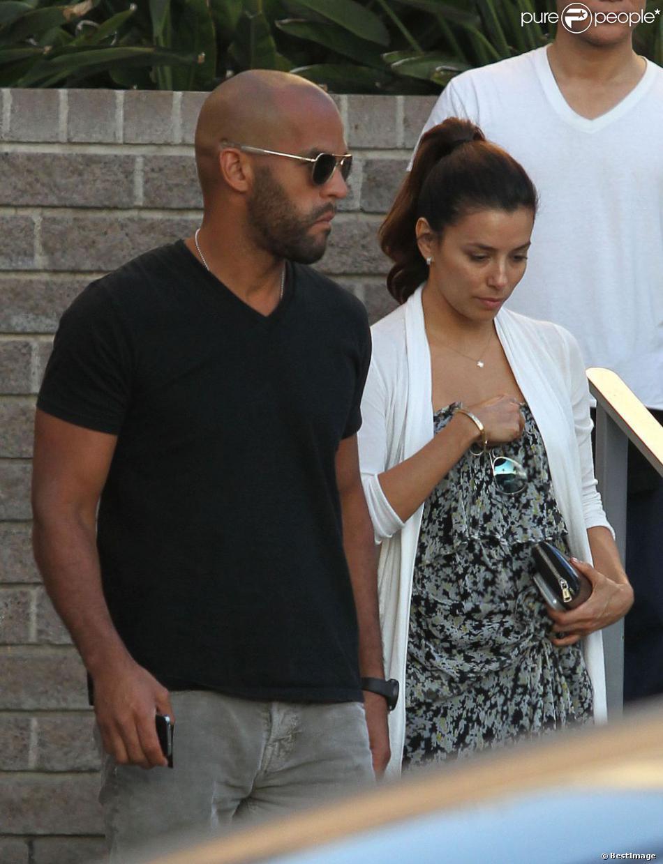 Exclusif - Eva Longoria s'est rendue à l'église où elle a rencontré Amaury Nolasco, à North Hollywood, le 17 août 2013.