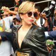 Lady Gaga quitte la station Z100 à New York, le 19 août 2013.