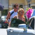 David Hasselhoff et sa compagne Hayley Roberts à Los Angeles, le 16 août 2013.